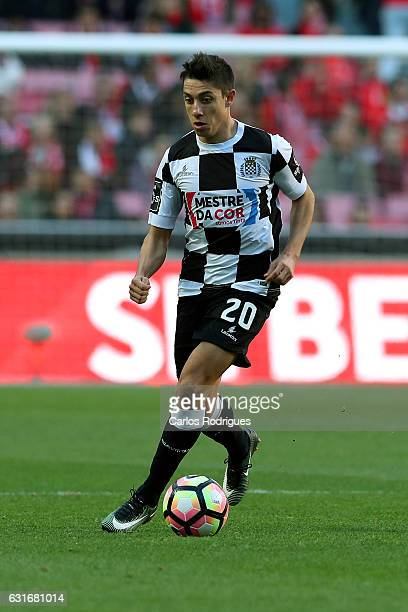 Boavista's defender Edu Machado from Portugal during the match between SL Benfica and Boavista FC for the Portuguese Primeira Liga at Estadio da Luz...
