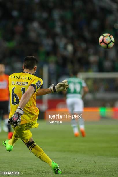 Boavista's goalkeeper Mickael Meira from Portugal during Premier League 2016/17 match between Sporting CP and Boavista FC at Alvalade Stadium in...