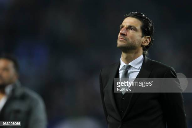 Boavista's head coach Jorge Simao during the Premier League 2017/18 match between FC Porto v Boavista FC at Dragao Stadium in Porto on March 17 2018