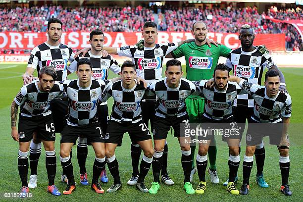 Boavistas inicial team during the Premier League 2016/17 match between SL Benfica v Boavista FC at Luz Stadium in Lisbon on January 14 2017