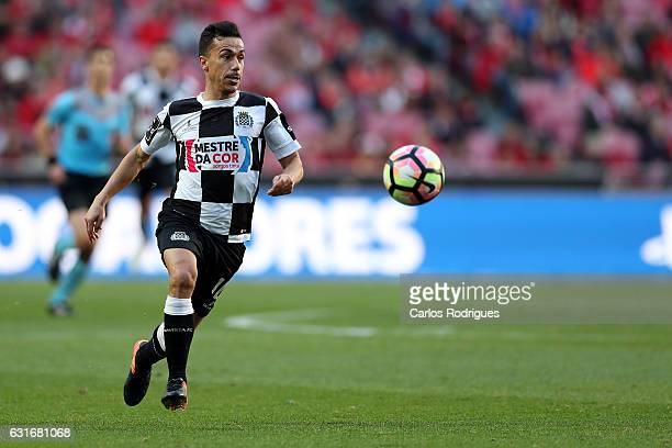 Boavista's midfielder Fabio Espinho from Portugal during the match between SL Benfica and Boavista FC for the Portuguese Primeira Liga at Estadio da...