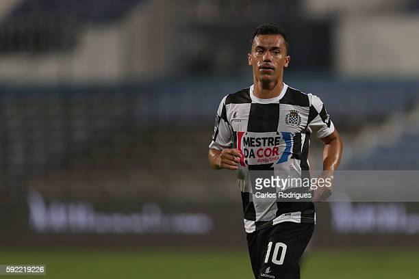 Boavista's midfielder Fabio Espinho from Portugal during the Portuguese Primeira Liga between CF Os Belenenses and Boavista FC at Estadio do Restelo...