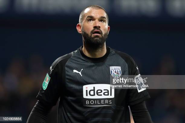 Boaz Myhill of West Bromwich Albion during the Carabao Cup Second Round match between West Bromwich Albion and Mansfield Town at The Hawthorns on...