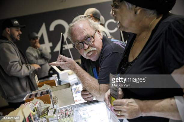 Bob and Judy Malgeri discuss their purchase options at 420 Central in Santa Ana Calif on Jan 1 2018 The state has issued dozens of permits for...