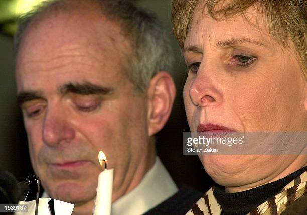 Bob and Sue Levy, parents of Chandra Levy, attend a candlelight vigil marking the one-year anniversary of their daughter's disappearance outside...