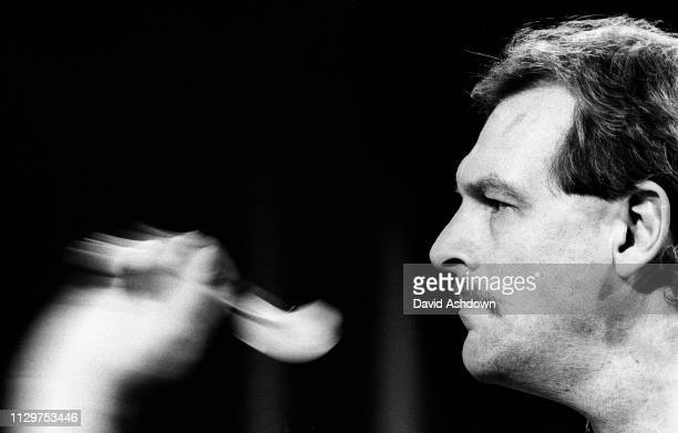 Bob Anderson on his way to becoming world Champion at the 1988 Embassy World Darts Championship at the Lakeside Country Club in Frimley Green 15th...