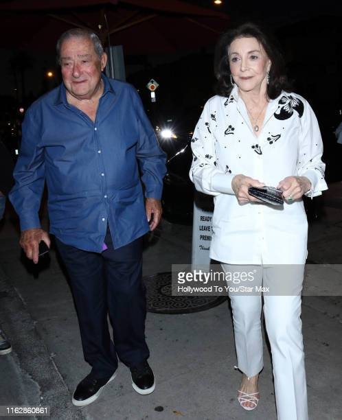 Bob Arum and Lovee Duboef are seen on August 19 2019 in Los Angeles