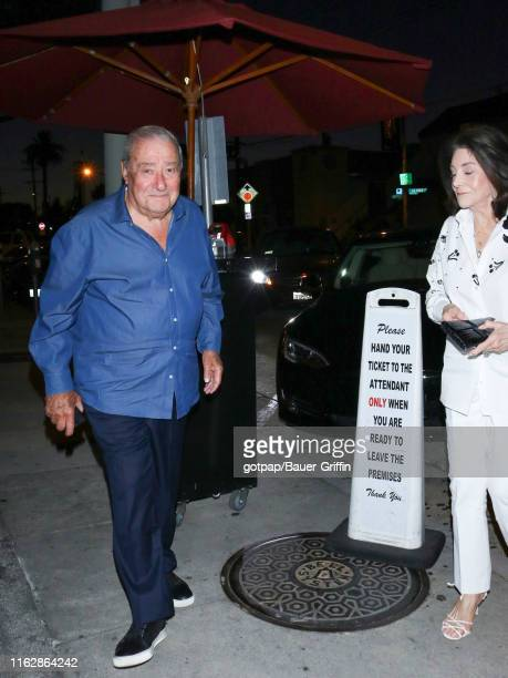 Bob Arum and Lovee Duboef are seen on August 19 2019 in Los Angeles California