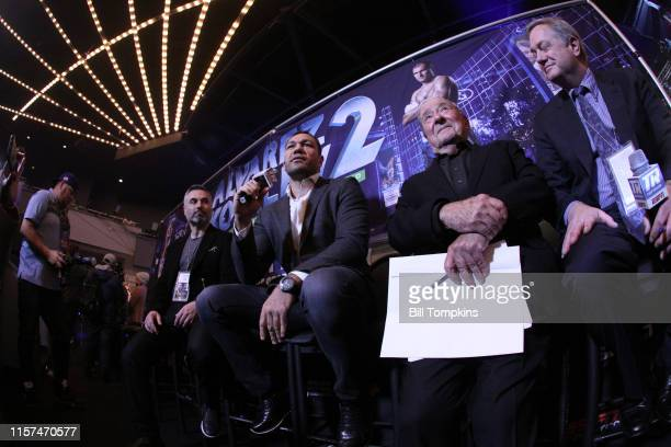 Bob Arum announces the signing of Heavyweight fighter Kubrat Pulev to TOP RANK Boxing at The Hulu Theatre at Madison Square Garden on December 8 in...