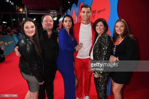 Bob Bakish Viacom President and CEO Georgina Rodriguez Cristiano Ronaldo and guests attend the MTV EMAs 2019 at FIBES Conference and Exhibition...