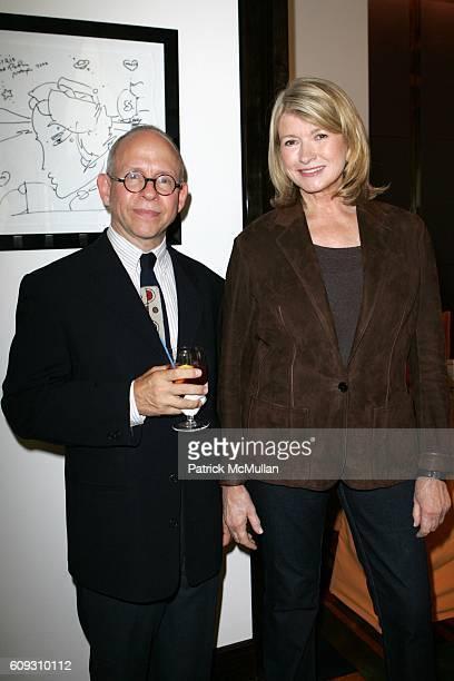 Bob Balaban and Martha Stewart attend MARTHA STEWART SIRIO MACCIONI and ANDREW BORROK Host a Lucheon to Celebrate 'NO RESERVATIONS' at Le Cirque on...