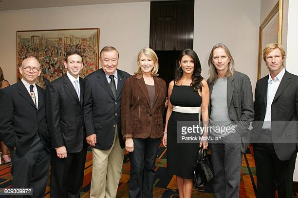 Bob Balaban Andrew Borrok Sirio Maccioni Martha Stewart Catherine ZetaJones Scott Hicks and Aaron Eckhart attend MARTHA STEWART SIRIO MACCIONI and...