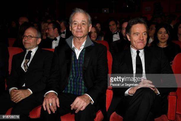 Bob Balaban Bill Murray and Bryan Cranston attend the Opening Ceremony 'Isle of Dogs' premiere during the 68th Berlinale International Film Festival...