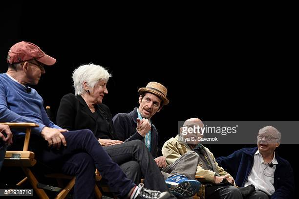 Bob Balaban Olympia Dukakis Denis O'Hare George Morfogen and Wallace Shawn speak on stage at the Tribeca Talks After The Movie Starring Austin...