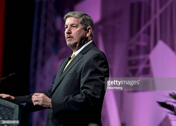 Bob Banks executive vice president and chief operating officer of Swift Energy Co speaks during the Hart Energy DUG Eagle Ford Shale conference in...
