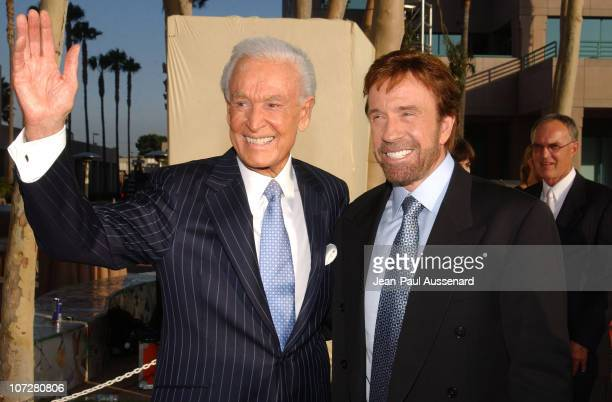 Bob Barker and Chuck Norris during The Academy of Television Arts & Sciences 2004 Hall of Fame Induction Ceremony - Arrivals at ATAS Leonard H....