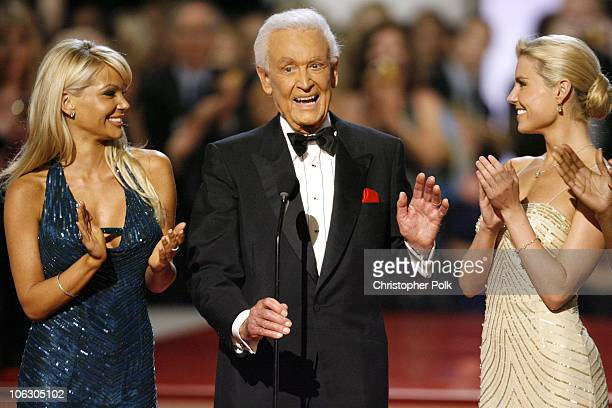 Bob Barker and his Barker Beauties during 34th Annual Daytime Emmy Awards Show at Kodak Theatre in Hollywood California United States