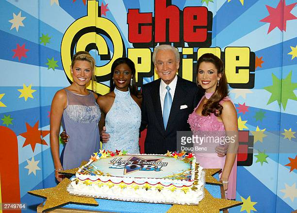 Bob Barker celebrates his 80th birthday party with Rachel Reynolds Lanisha Cole and Brandi Sherwood during a special daytime edition of The Price Is...