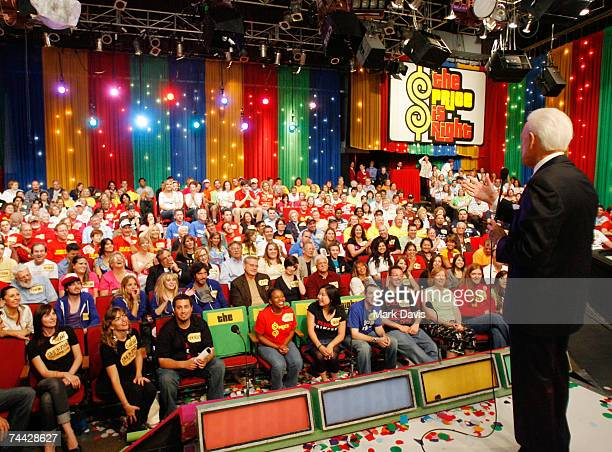 Bob Barker speaks to the studio audience during his last taping of The Price is Right show held at the CBS television city studios on June 6 2007 in...