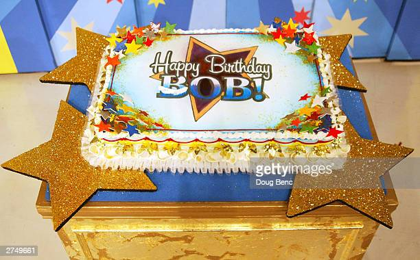 """Bob Barker's cake to celebrate his 80th birthday party is displayed during a special daytime edition of """"The Price Is Right"""" on November 20, 2003 at..."""