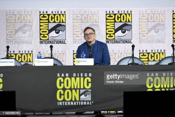 """Bob Berens speaks at the """"Supernatural"""" Special Video Presentation and Q&A during 2019 Comic-Con International at San Diego Convention Center on July..."""