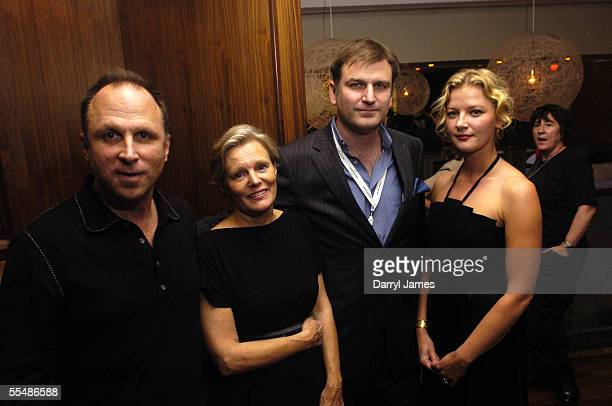 "Bob Berney, director Mary Harron, co-director of the TIFF, Noah Cowan, and actress Gretchen Mol attend the dinner party for ""The Notorious Bettie..."
