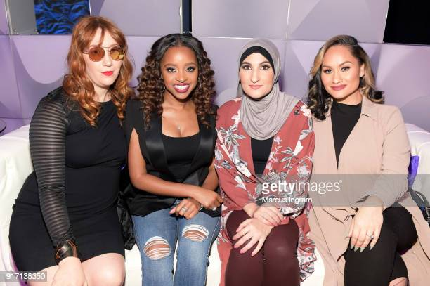 Bob Bland Tamika D Mallory Linda Sarsour and Carmen Perez attends BET's Social Awards 2018 at Tyler Perry Studio on February 11 2018 in Atlanta...