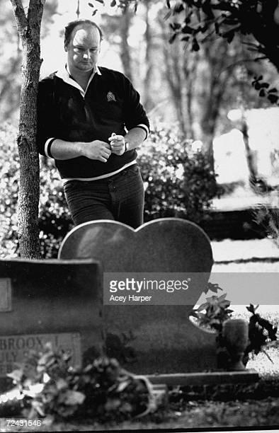 Bob Bowen, classmate of Kimberly Leach, victim of serial killer Ted Bundy, visiting her grave.
