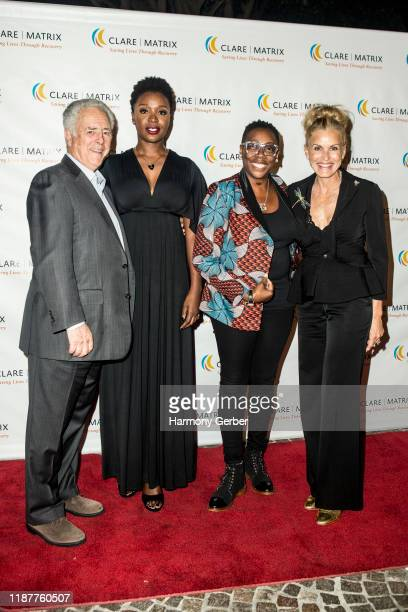 Bob Broder and Folake Olowofoyeku attend the Clare Matrix 22nd Annual Tribute Dinner at Fairmont Miramar Hotel on November 14 2019 in Santa Monica...