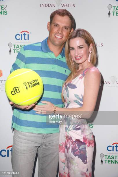 Bob Bryan and Michelle Alvarez attend the Citi Taste of Tennis at Hyatt Regency Indian Wells Resort Spa on March 5 2018 in Indian Wells California