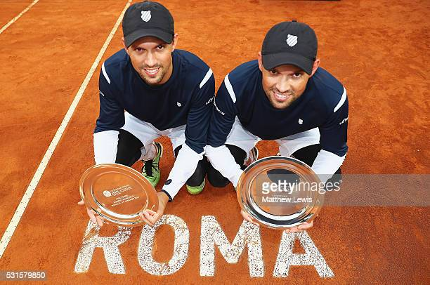 Bob Bryan and Mike Bryan of the United States pictured after winning the Final against Vasek Pospisil of Canada and Jack Sock of the United States...