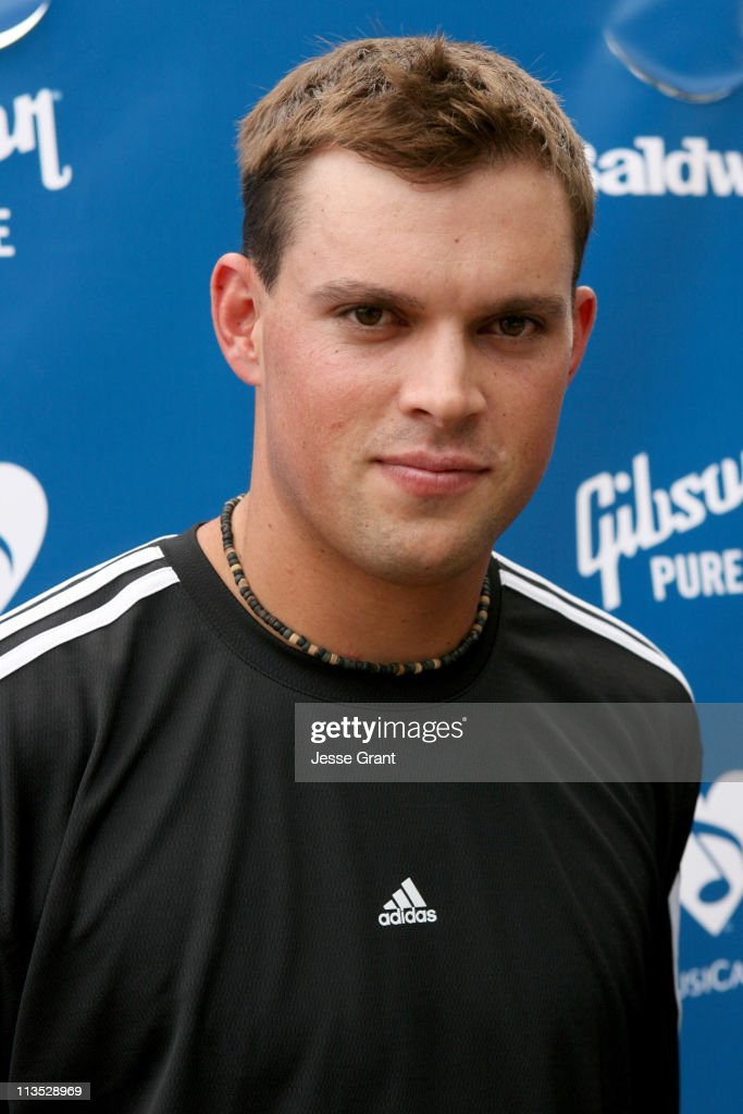 Bob Bryan during Gibson and Baldwin Host 2006 'Night at the Net' - Red Carpet at Los Angeles Tennis Center in Los Angeles, California, United States.