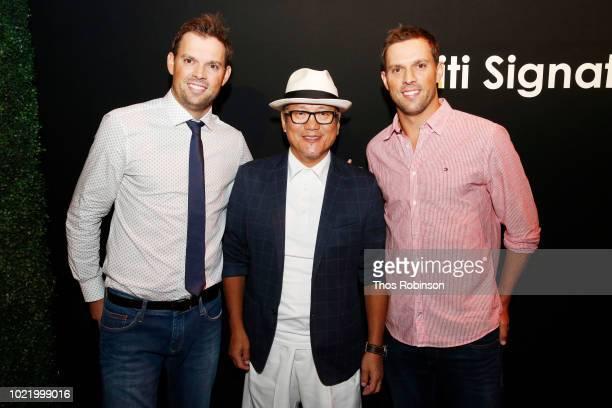 Bob Bryan Masaharu Morimoto and Mike Bryan attend the Citi Taste Of Tennis gala on August 23 2018 in New York City