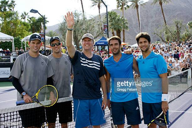Bob Bryan Mike Bryan Will Ferrell David Marrero and Fernando Verdasco attends the 10th Anniversary Desert Smash at La Quinta Resort and Club on March...