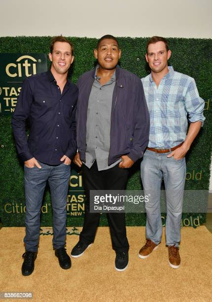 Bob Bryan Omar Benson Miller and Mike Bryan attend Citi Taste Of Tennis at W New York on August 24 2017 in New York City