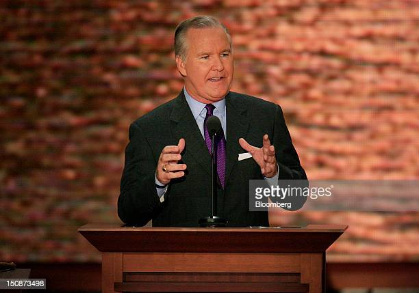 Bob Buckhorn mayor of Tampa speaks at the Republican National Convention in Tampa Florida US on Tuesday Aug 28 2012 Delegates are gathered in Tampa...