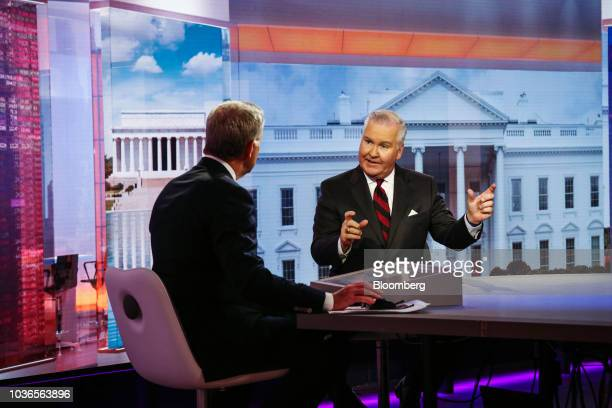 Bob Buckhorn mayor of Tampa speaks during a Bloomberg Television interview in New York US on Thursday Sept 20 2018 Buckhorn discussed tax fears and...