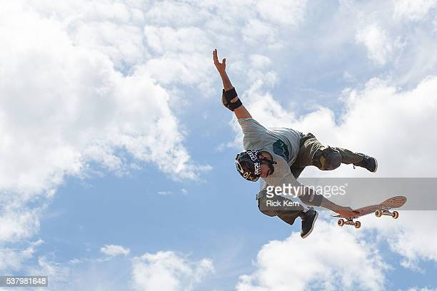 Bob Burnquist participates in Skateboard Vert Final during X Games Austin at Circuit of The Americas on June 2 2016 in Austin Texas