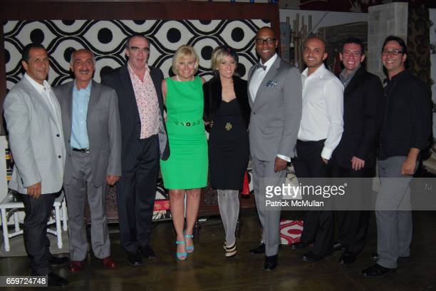 Bob Cadry Abraham Moradzadeh David Linnie Christine Phillips Jaime Rummerfield Ron Woodson Sam Moradzadeh Ali Nikrooz and Mark Cadry attend WOVEN...
