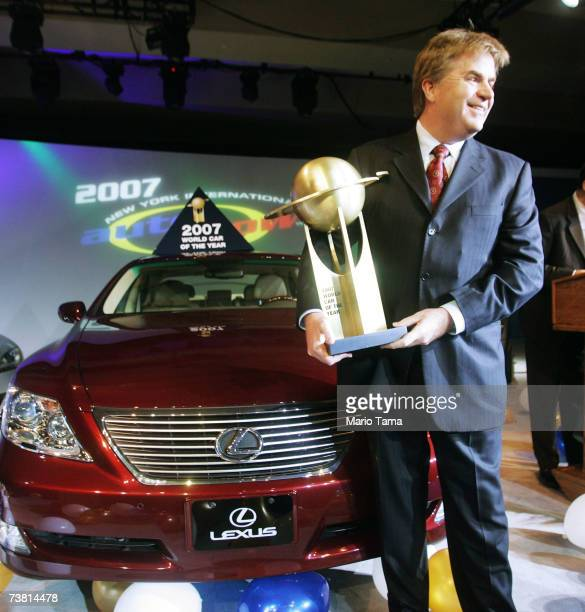 Bob Carter Lexus Group Vice President and General Manager poses after the Lexus LS460 won the 2007 World Car of the Year award at the New York...