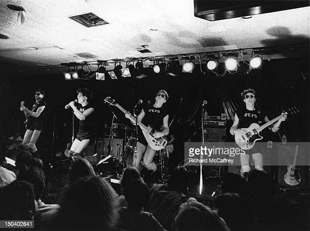 Bob Casale Mark Mothersbaugh Gerald Casale and Bob Mothersbaugh of Devo perform live in 1980 in San Francisco California