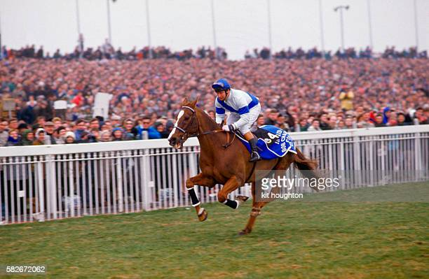 Bob Champion and Aldaniti parade at the 1987 Grand National to raise money for the Bob Champion Cancer Trust