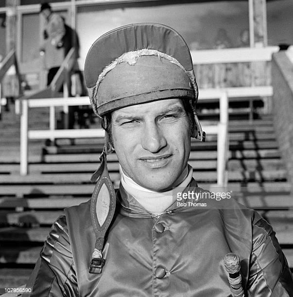Bob Champion National Hunt jockey at Towcester Racecourse circa December 1978