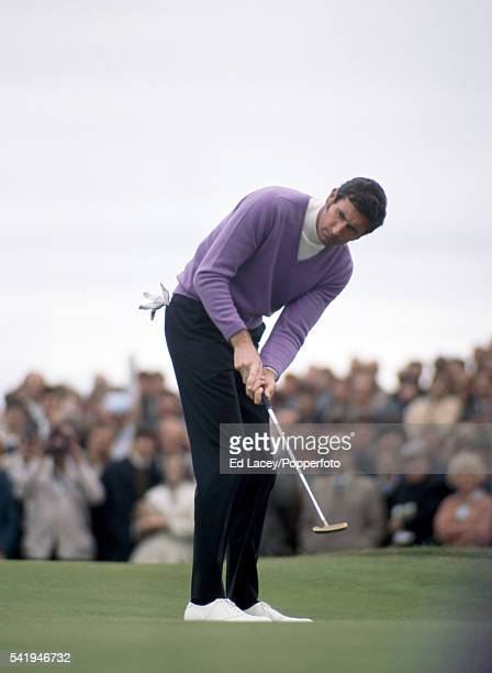 Bob Charles of New Zealand in action during the British Open Golf Championship at the Royal Lytham St Annes Golf Club on 12th July 1969