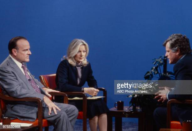 Bob Clark Catherine Mackin Ted Kennedy appearing on ABC's 'Issues and Answers'