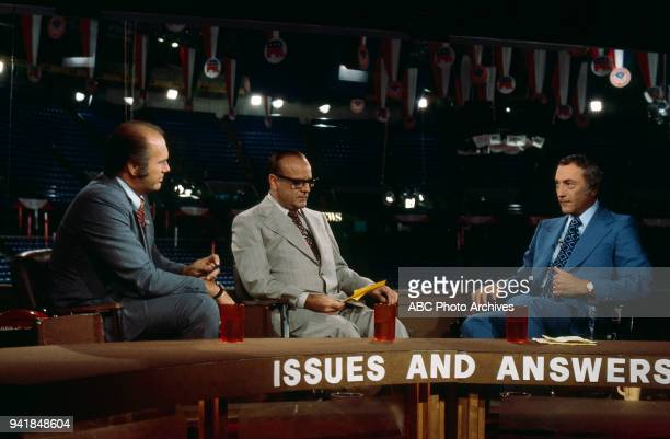 Bob Clark Senator Richard Schweiker on ABC's 'Issues and Answers' program at 1976 Republican National Convention Kemper Arena