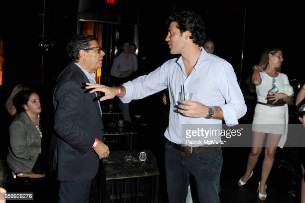 Bob Colacello and Alejandro Santo Domingo attend Party at WALL Hosted by VITO SCHNABEL STAVROS NIARCHOS ALEX DELLAL at WALL at the W SOUTH BEACH on...