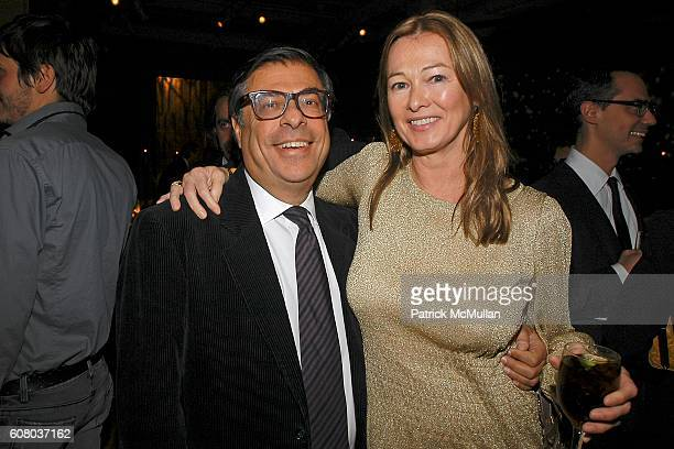 Bob Colacello and Kimberly Duross attend 11th Annual Holiday Dinner Honoring DONNA KARAN and Benefiting ACRIA at The Stephen Weiss Studio on December...
