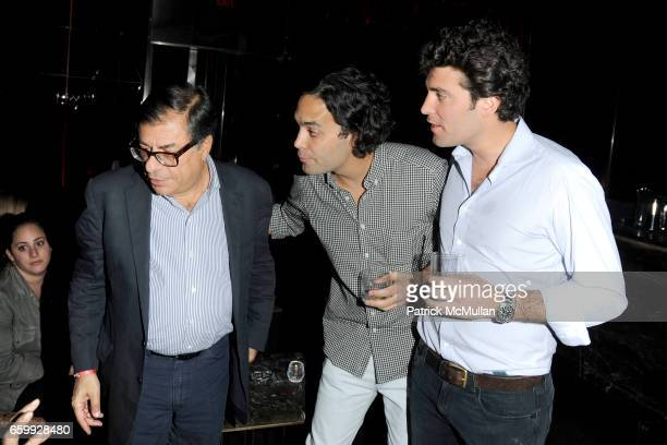 Bob Colacello Andres Santo Domingo and Alejandro Santo Domingo attend Party at WALL Hosted by VITO SCHNABEL STAVROS NIARCHOS ALEX DELLAL at WALL at...