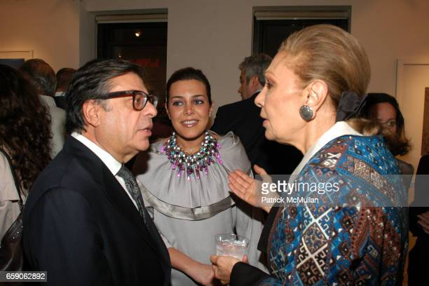 Bob Colacello Myrna Ayad and Her Majesty Empress Farah Pahlavi attend LEILA TAGHINIAMILANI HELLER GALLERY Presents GEORG GERSTER Paradise Lost Persia...